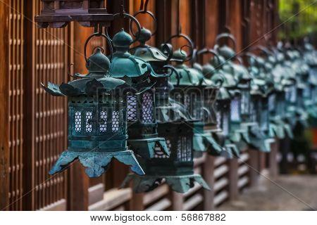 Bronze Lanterns at Kasuga Taisha in Nara poster
