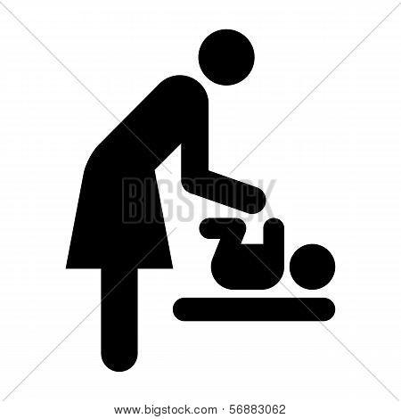 Baby Care Room Symbol, Mother Room Symbol