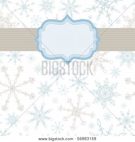 Snowflake Banner Background