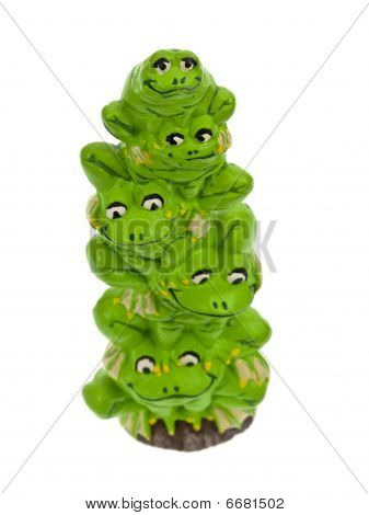 Frog stack top view