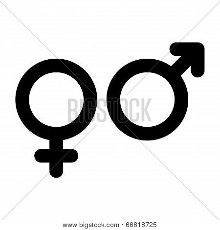 Male And Female Sign. Gender Symbol