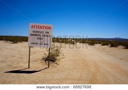 Blm Road Sign