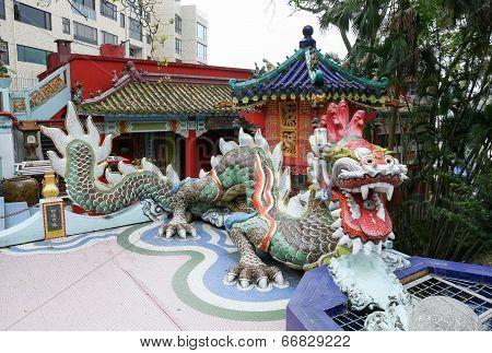 Colorful Dragon Sculpture In Repulse Bay Temple, Hong Kong