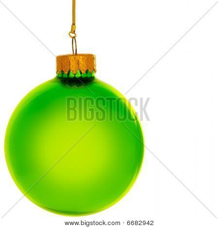 Green Glass Christmas Ornament