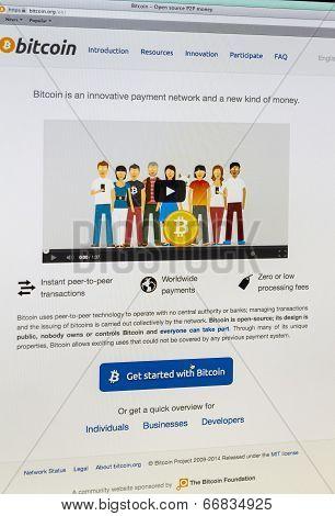 Bitcoin - Shot Of Real Monitor Screen