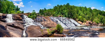 Rushing waterfalls at High Falls State Park near Macon GA