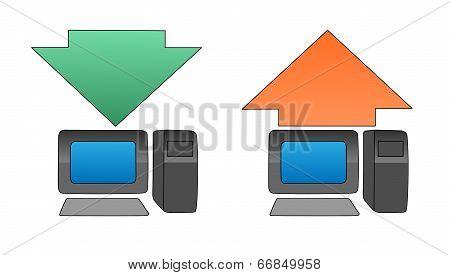 uploading downloading