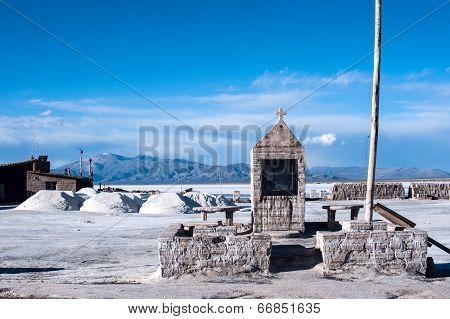 Salinas Grandes Salt desert in the Jujuy, Argentina