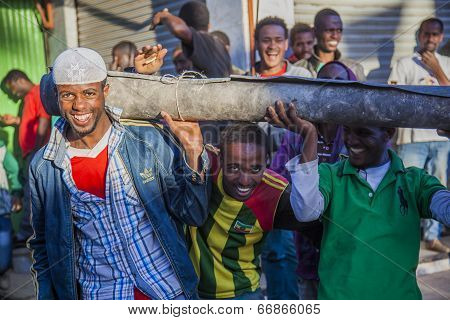 Merkato Market Workers. Addis Ababa. Ethiopia.