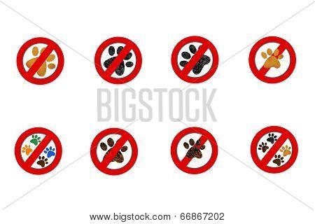 Interdiction Paw  Symbol Signs