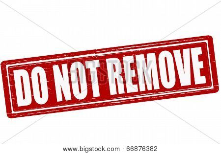 Stamp with text do not remove inside vector illustration