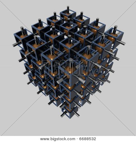 Abstract - data package - isolated - 3D