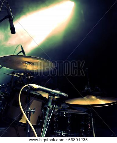Drum on stage