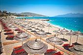 Beautiful  Mango beach in Saranda, Albania. poster