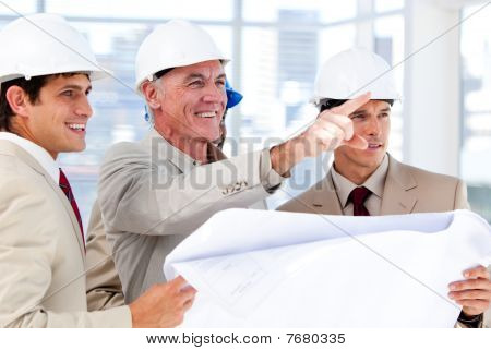 Architect Explaining The Project To The Team
