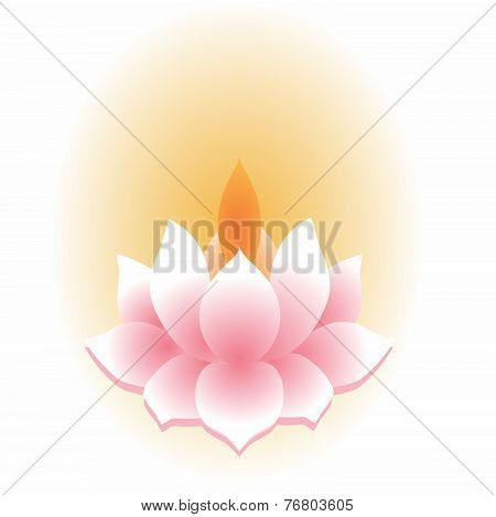 Asian Lotus Lantern Isolated
