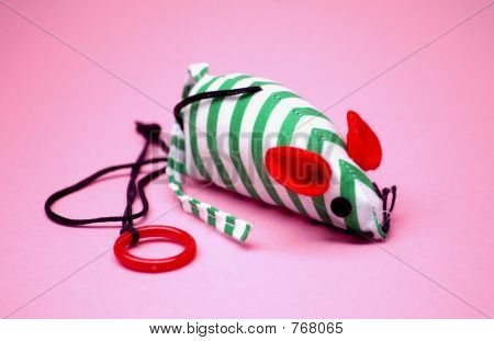 stripped toy mouse