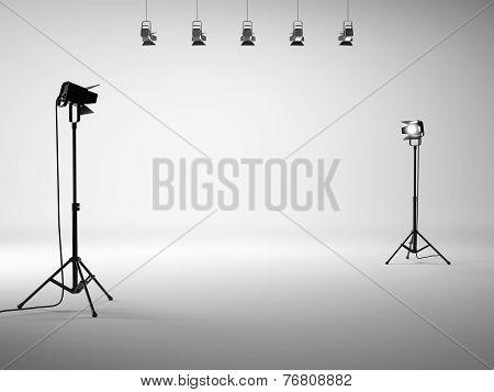 White Studio With Equipment