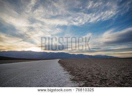 Sunset At The Badwater Basin.