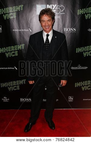 NEW YORK-OCT 4: Actor/comedian Martin Short attends the 'Inherent Vice' Centerpiece Gala Presentation & Premiere at the New York Film Festival at Alice Tully Hall on October 4, 2014 in New York City.