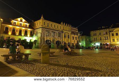 Tarnow - marketplace by night