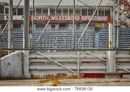 North Wilkesboro, NC - Nov 22, 2014:  North Wilkesboro Speedway was a short track that held races in NASCAR's top three series from NASCAR's inception in 1949 until its closure in 1996.