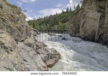 Rapids On Mountain River