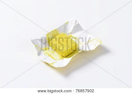 unwrapped bouillon cube