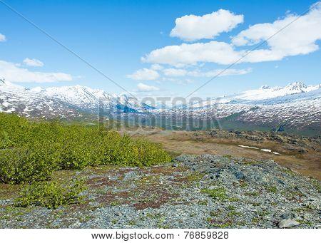Thompson Pass on the route to Valdez, Alaska poster