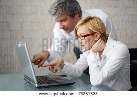 Businessteam In Work