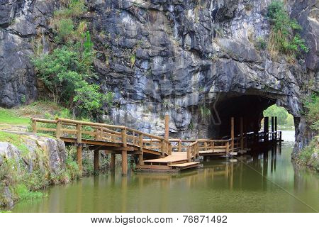 passage in the rock, one of parks, Curitiba