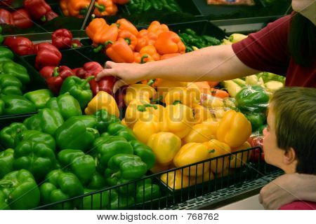 Woman Picking Produce