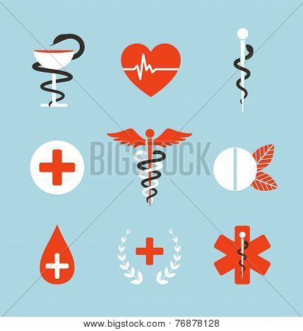 Medical Symbols Emblems and Signs Collection