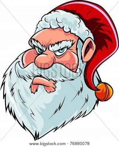 Cartoon mean Santa Claus head