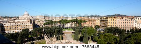 Aerial And Panoramic View Of Rome In Italy