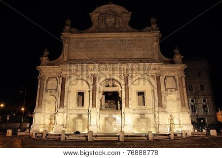 Acqua Paola Fountain At Night