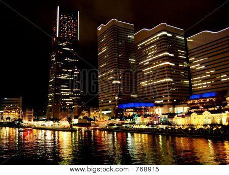 Yokohama City at night