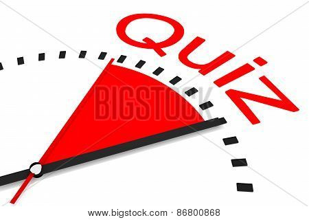 Clock Red Area Countdown Quiz