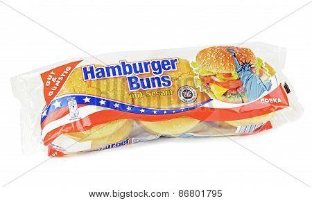 A pack of sesame hamburger  buns