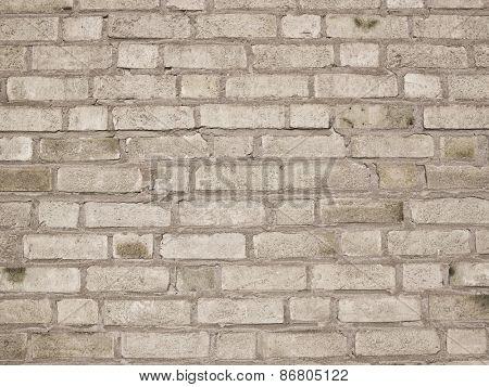 Worn Brick Wall Pattern Full Frame