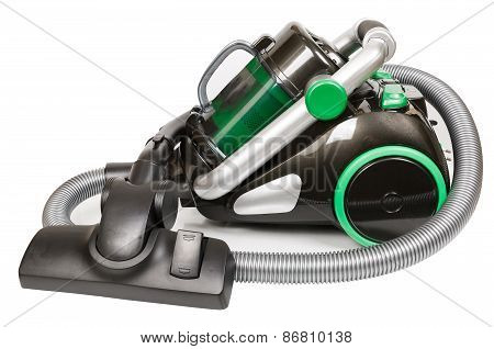 Vacuum cleaner on a white background isolated object poster
