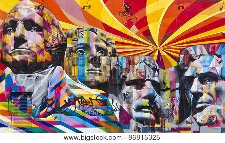 Mount Rushmore National Memorial Murals