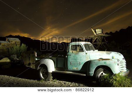 Antique Truck In Ghost Town