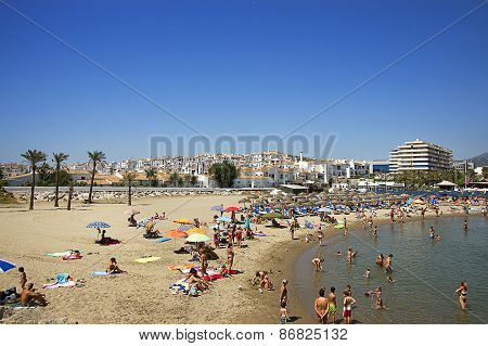 Beach In The Puerto Banus In Spain