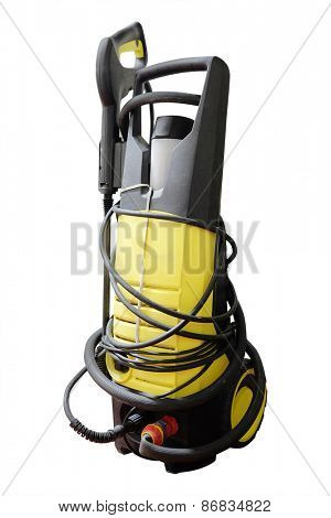 High pressure washer isolated under the white background  poster