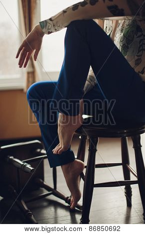 Sexy woman hips with shoes
