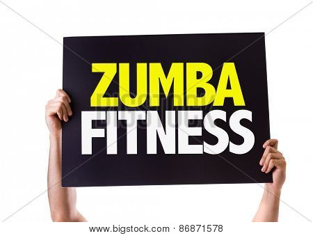 Zumba Fitness card isolated on white