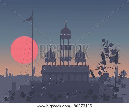 Gurdwara At Night
