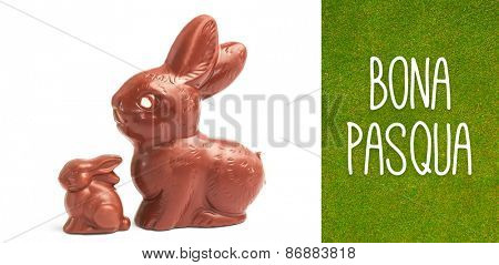 bona pasqua against green background