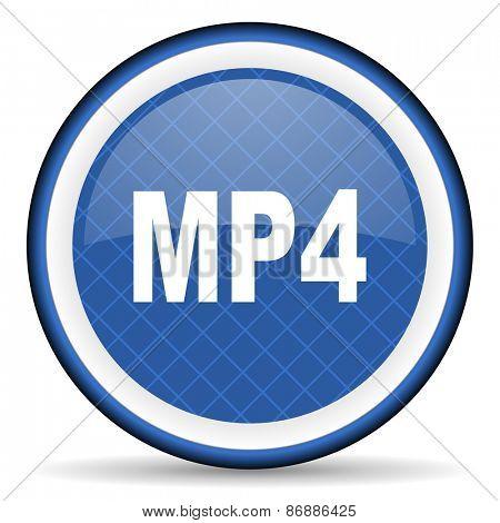 mp4 blue icon
